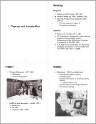 Displays and Frame Buffers