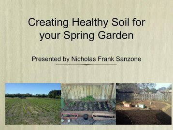 Creating Healthy Soil for your Spring Garden - Rockledge Gardens