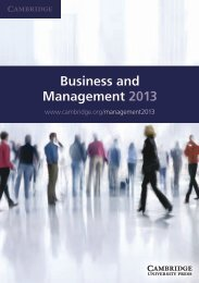 Business and Management 2013 - Cambridge University Press India