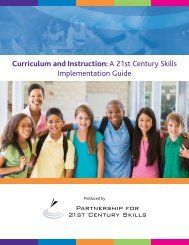Curriculum and Instruction - The Partnership for 21st Century Skills