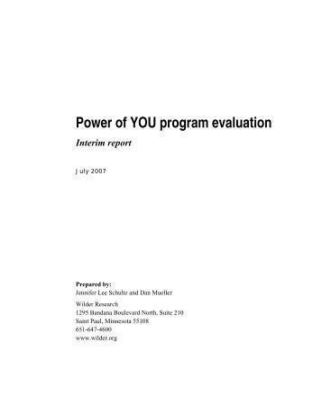 Power of YOU Program Evaluation, Summary