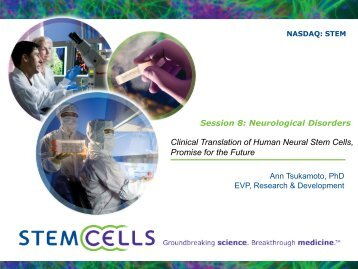 Clinical Translation of Human Neural Stem Cells, Promise for the ...
