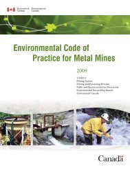 Environmental Code of Practice for Metal Mines - Publications du ...