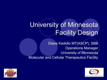 Molecular and Cellular Therapeutics Facility