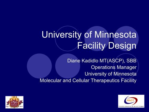 Molecular and Cellular Therapeutics Facility