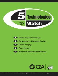 Digital Display Technology - Consumer Electronics Association