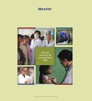 Informe resumido de sostenibilidad 2004 - Baxter Sustainability Report