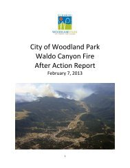 City of Woodland Park Waldo Canyon Fire After Action Report
