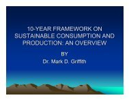10-year framework on sustainable consumption and production