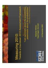 Presentation (pdf, 8 MB) - Countdown 2010
