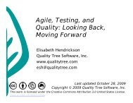 Agile, Testing, and Quality: Looking Back, Moving Forward - PNSQC