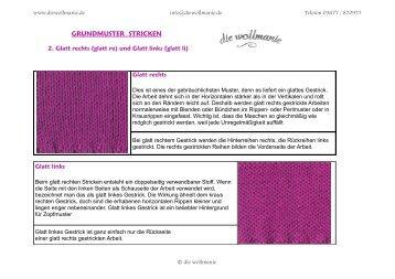 GRUNDMUSTER STRICKEN - Die Wollmanie