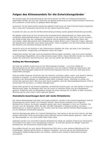 Bericht zur Auswirkung des Klimawandels auf ... - younicef.de