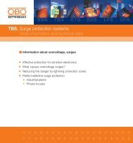 TBS. Surge protection systems/Information about ... - OBO Bettermann