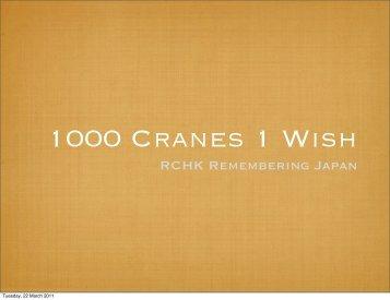 1000 Cranes 1 Wish