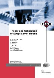 Theory and Calibration of Swap Market Models - Swiss Finance ...