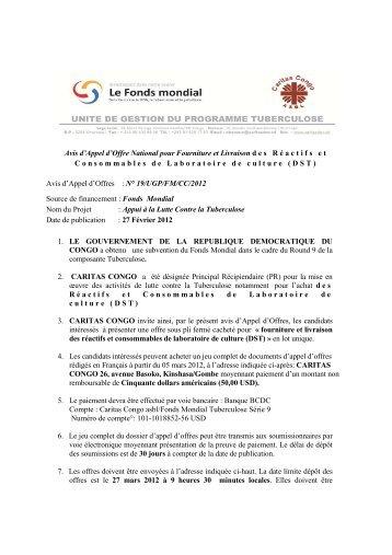 AAO REACTIFS DE LABO DST 27.02.2012 - caritasdev.cd