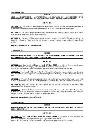(Recueil n°2009-09 partie 2) - Alençon