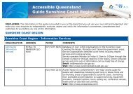 Accessible Queensland Guide Sunshine Coast Region
