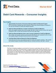 Debit Card Rewards – Consumer Insights - First Data