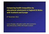 Comparing trends in health inequalities by educational attainment in ...