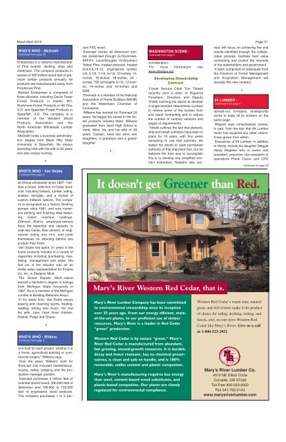 It doesn't get Greener than Red. - Miller Publishing Corporation