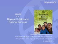 Regional Intake and Regional Intake and Referral Services - NCOSS