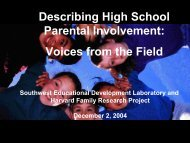 Voices from the Field - Harvard Family Research Project