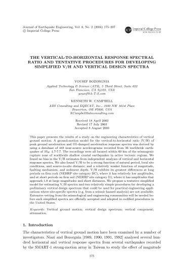 December 5, 2003 17:10 WSPC/124-JEE 00148 THE VERTICAL-TO ...