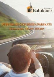 Finanšu rādītāji par 2007.gada 3. ceturksni - Baltikums
