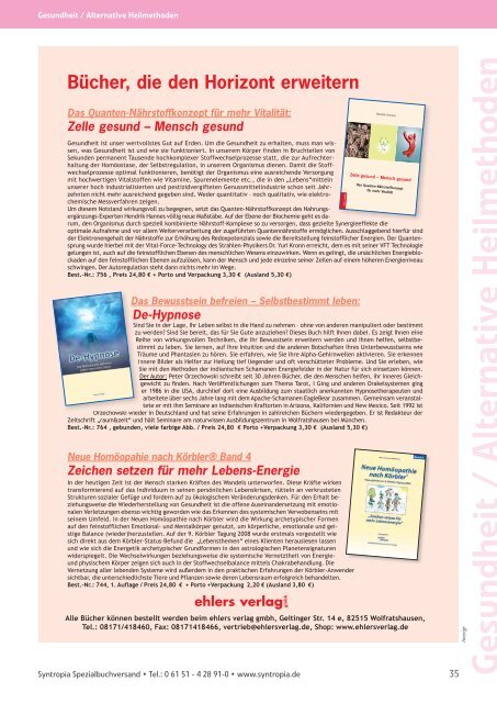 B ll b i S i Bestseller bei Syntropia