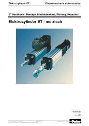 Elektrozylinder ET - MACCON GmbH