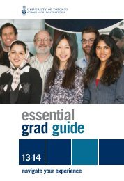 Essential Grad Guide (PDF) - School of Graduate Studies