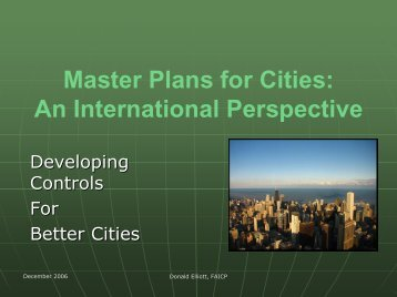 Master Plans for Cities: An International Perspective