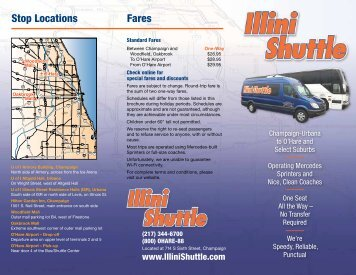 Printable PDF Schedule - Illini Shuttle