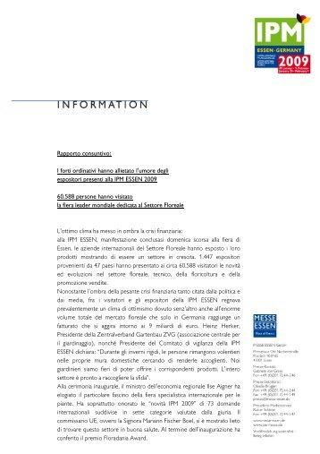 IPM Essen 2009 - Rapporto consuntivo - Clamer Informa