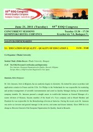 The EOQ Personnel Certification and Registration - European ...