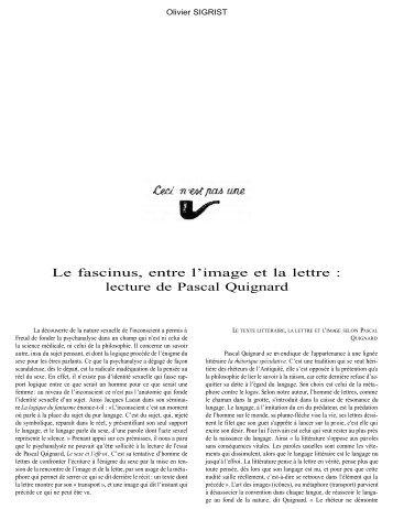 Le fascinus, entre l'image et la lettre - groupe régional de ...