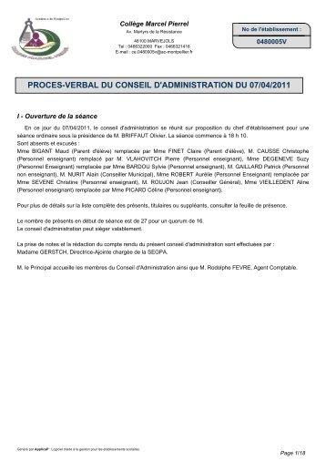CAP Conseil - Collège Marcel Pierrel à Marvejols