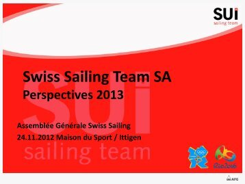 Perspectives 2013 - Swiss-Sailing