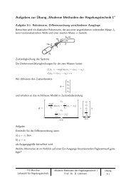 """Aufgaben zur Übung """"Moderne Methoden der Regelungstechnik 1"""""""