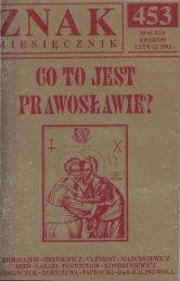 Co to jest prawosławie? Luty, 1993 rok - Znak