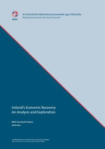 An Analysis and Exploration - National Economic & Social Council