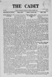 The Cadet. VMI Newspaper. March 01, 1910 - New Page 1 [www2 ...