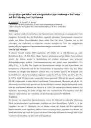 Vergleich organischer und anorganischer Spurenelemente im Futter ...