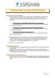INSTRUCTIONS for ORAL PRESENTATION - Colloquium