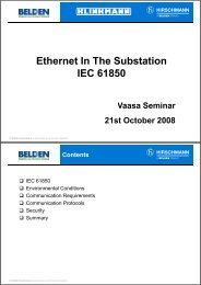Ethernet In The Substation IEC 61850 - Klinkmann.