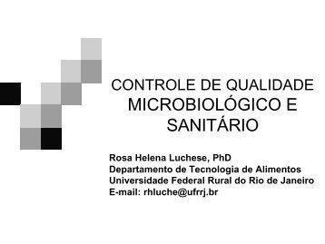 Controle de qualidade microbiológico e sanitário - UFRRJ