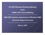 2006 DOE Industry Assessment of Windows R&D - Energetics ...