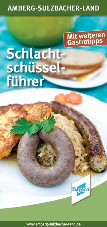 Schlacht- schüssel- führer - Amberg-Sulzbacher Land